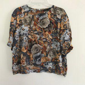 Zara Floral Blouse M